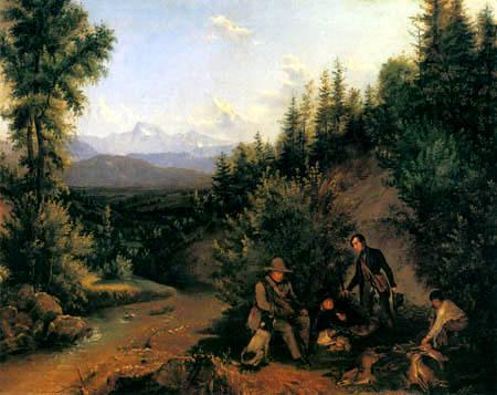 Ferdinand Georg Waldmüller - Rast am Bachufer