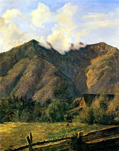 Ferdinand Georg Waldmüller - Der Zimitzberg bei dem Dorf Ahorn