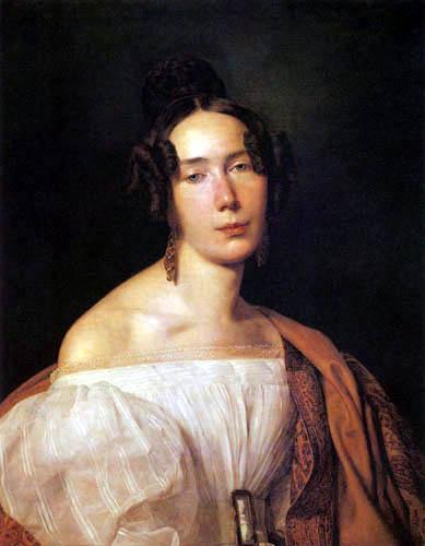 Ferdinand Georg Waldmüller - Frau Magdalena Werner