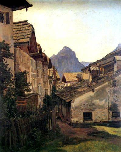 Ferdinand Georg Waldmüller - Gasse in St. Wolfgang