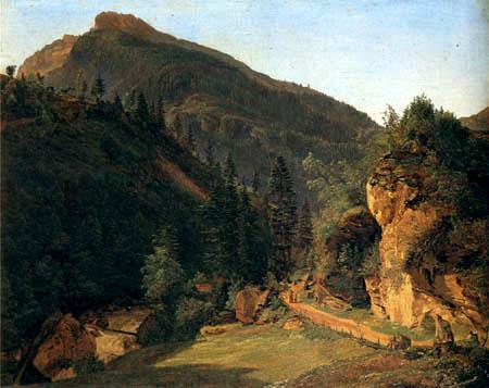 Ferdinand Georg Waldmüller - Mountainous Landscape