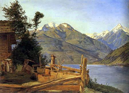 Ferdinand Georg Waldmüller - Zell am See im Pinzgau
