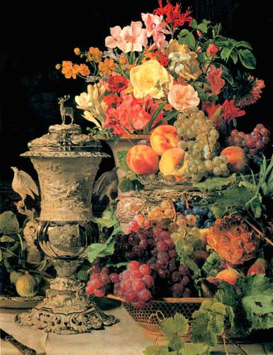 Ferdinand Georg Waldmüller - Früchte- und Blumenstillleben