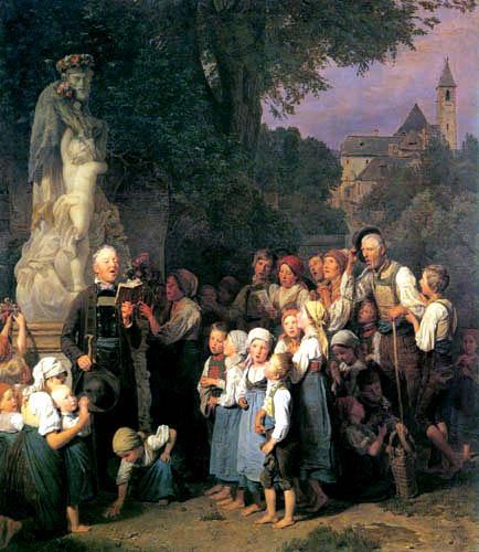 Ferdinand Georg Waldmüller - Die Verehrung des hl. Johannes