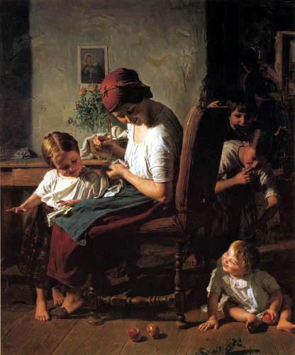 Ferdinand Georg Waldmüller - Mutter mit Kindern