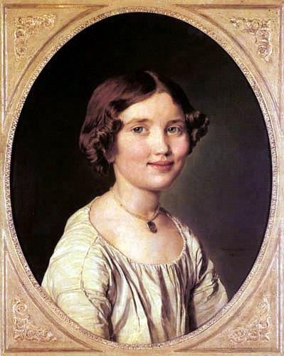 Ferdinand Georg Waldmüller - Mädchen in weißer Bluse