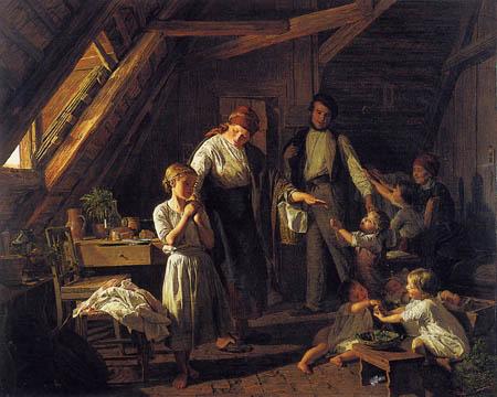 Ferdinand Georg Waldmüller - Abschied von den Eltern