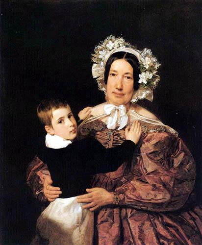 Ferdinand Georg Waldmüller - Señora Lindner con su hijo