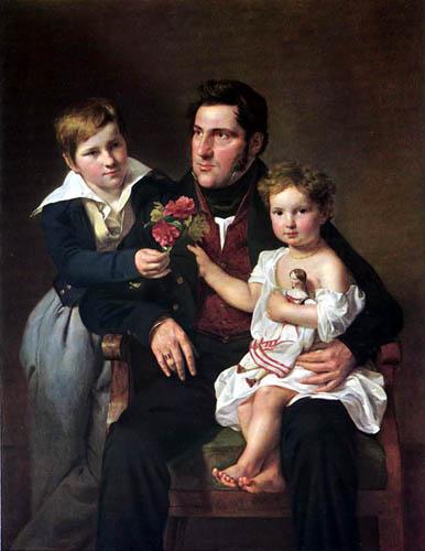 Ferdinand Georg Waldmüller - Johann Feldmüller mit seinen Kindern