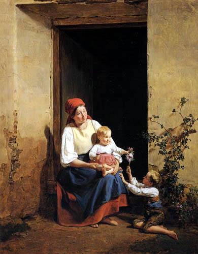 Ferdinand Georg Waldmüller - A lucky mother
