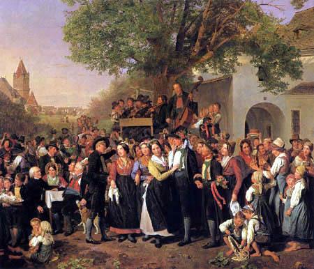 Ferdinand Georg Waldmüller - Niederösterreichische Bauernhochzeit