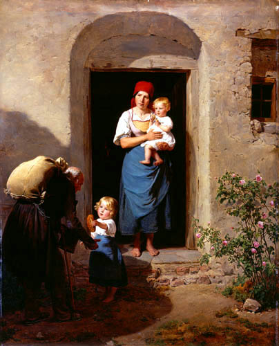 Ferdinand Georg Waldmüller - A boy give a pittance