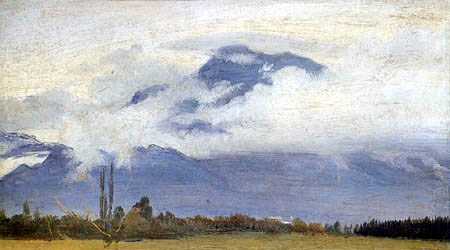 Friedrich Wasmann - Clouds in the mountains of Tyrol