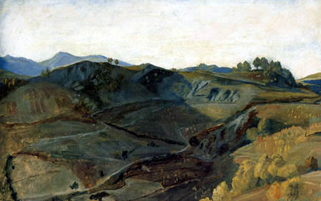 Friedrich Wasmann - In the mountains at Olevano