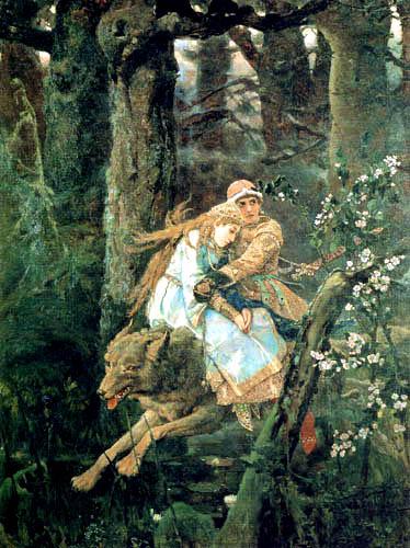 Wiktor Michajlowitsch Wasnezow - Iwan Zarewitsch auf dem grauen Wolf