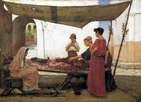 John William Waterhouse - A Flower Stall