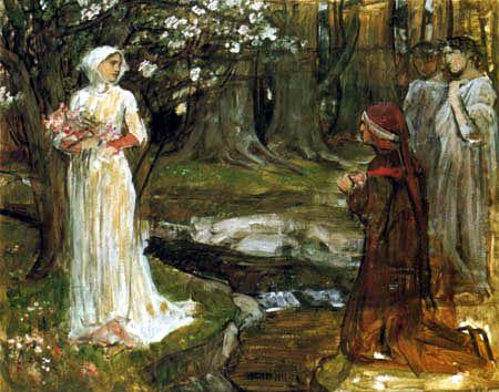 John William Waterhouse - Dante's meeting with Beatrice