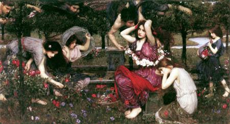 John William Waterhouse - Flora y los Céfiros