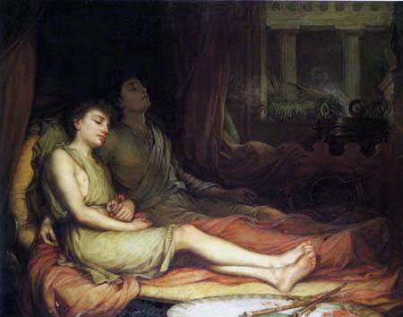 John William Waterhouse - Sleep and his Half Brother Death