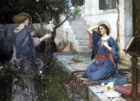 John William Waterhouse - Anunciación