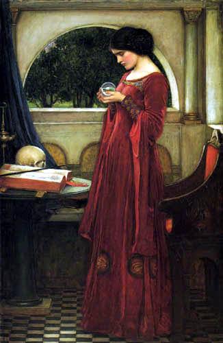 John William Waterhouse - La bola del cristal