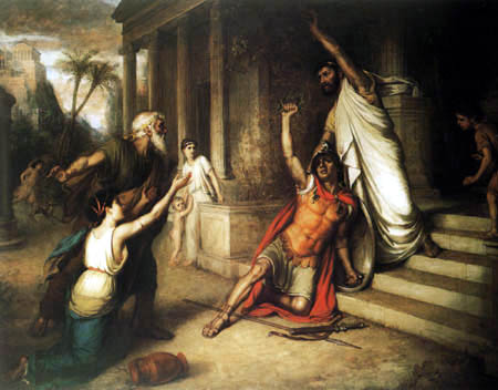 John William Waterhouse - The Death of Cocles