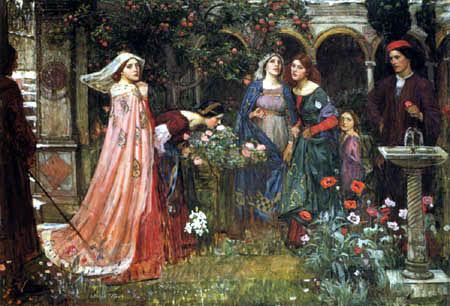 John William Waterhouse - El jardín encantado