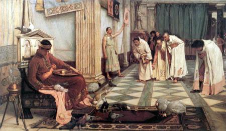 John William Waterhouse - Los favoritos del emperador Honorio
