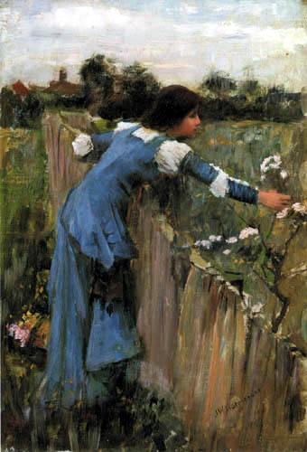 John William Waterhouse - La recolectora floral