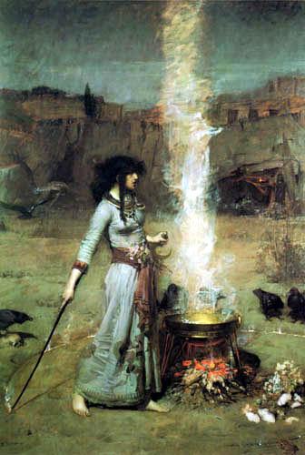 John William Waterhouse - El círculo mágico