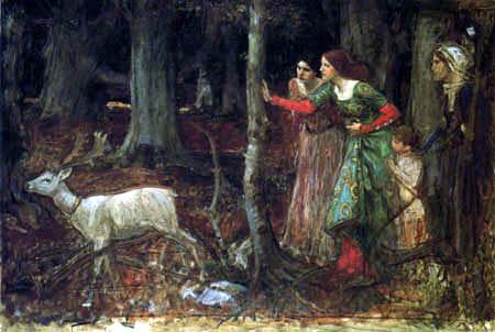John William Waterhouse - La mística del bosque