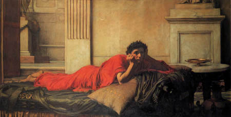 John William Waterhouse - The Remorse of Nero