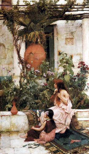 John William Waterhouse - The Toilet