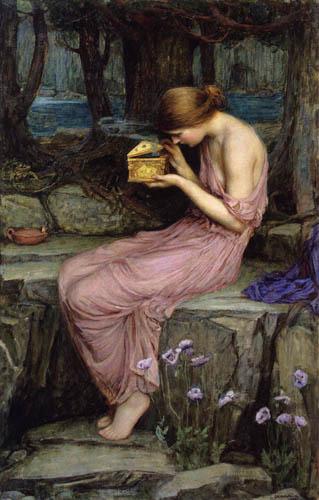 John William Waterhouse - Psyche opens the golden box