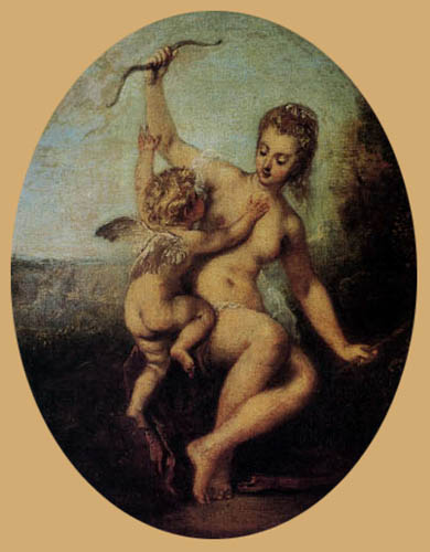 Jean-Antoine Watteau - The disarmed Cupido