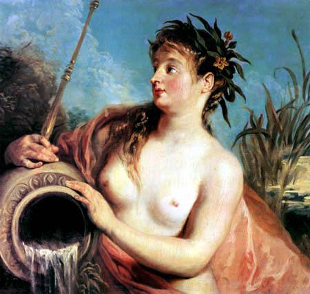 Jean-Antoine Watteau - Quellnymphe