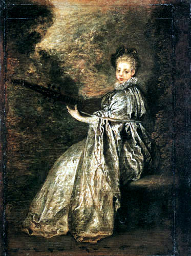 Jean-Antoine Watteau - The lute player