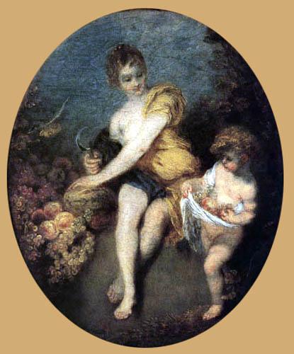 Jean-Antoine Watteau - Der Herbst