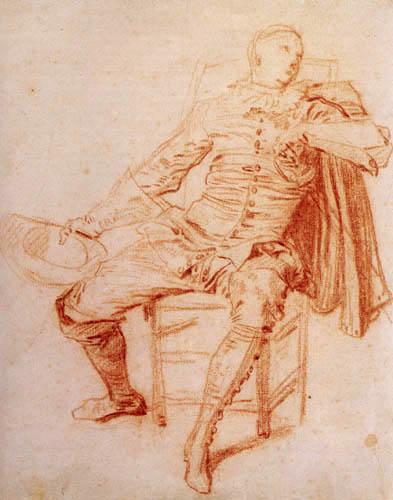 Jean-Antoine Watteau - Schauspieler der italienischen Komödie