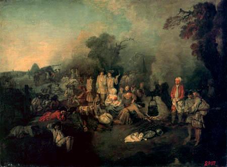 Jean-Antoine Watteau - Field kitchen