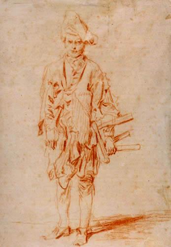 Jean-Antoine Watteau - Shoeshine boy