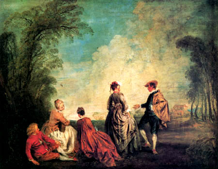 Jean-Antoine Watteau - The confusing request