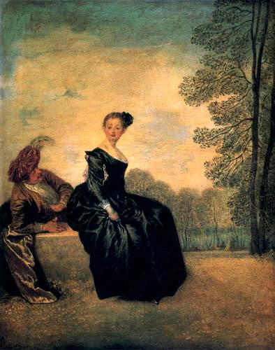 Jean-Antoine Watteau - Pouting woman