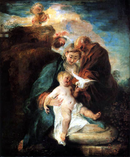Jean-Antoine Watteau - Resting on the flight into Egypt