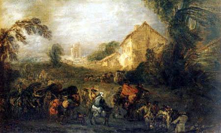 Jean-Antoine Watteau - The strains of the war