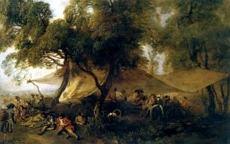 Jean-Antoine Watteau - Zersteuungen des Krieges