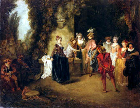 Jean-Antoine Watteau - The French comedy