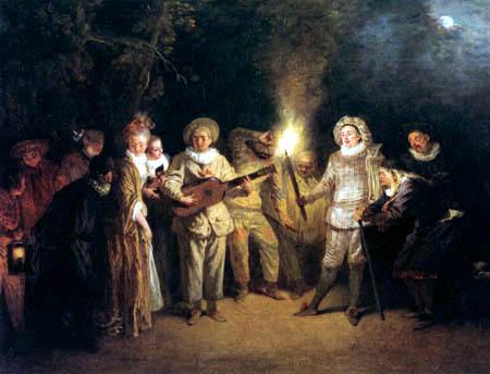 Jean-Antoine Watteau - The Italian comedy