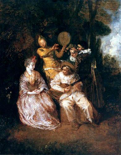 Jean-Antoine Watteau - Italienische Serenade