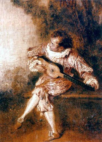 Jean-Antoine Watteau - Serenade singer
